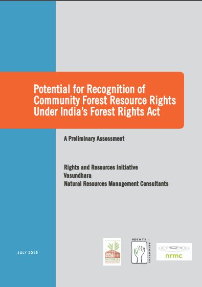 Potential for Recognition of Community Forest Resource Rights Under India's Forest Rights Act