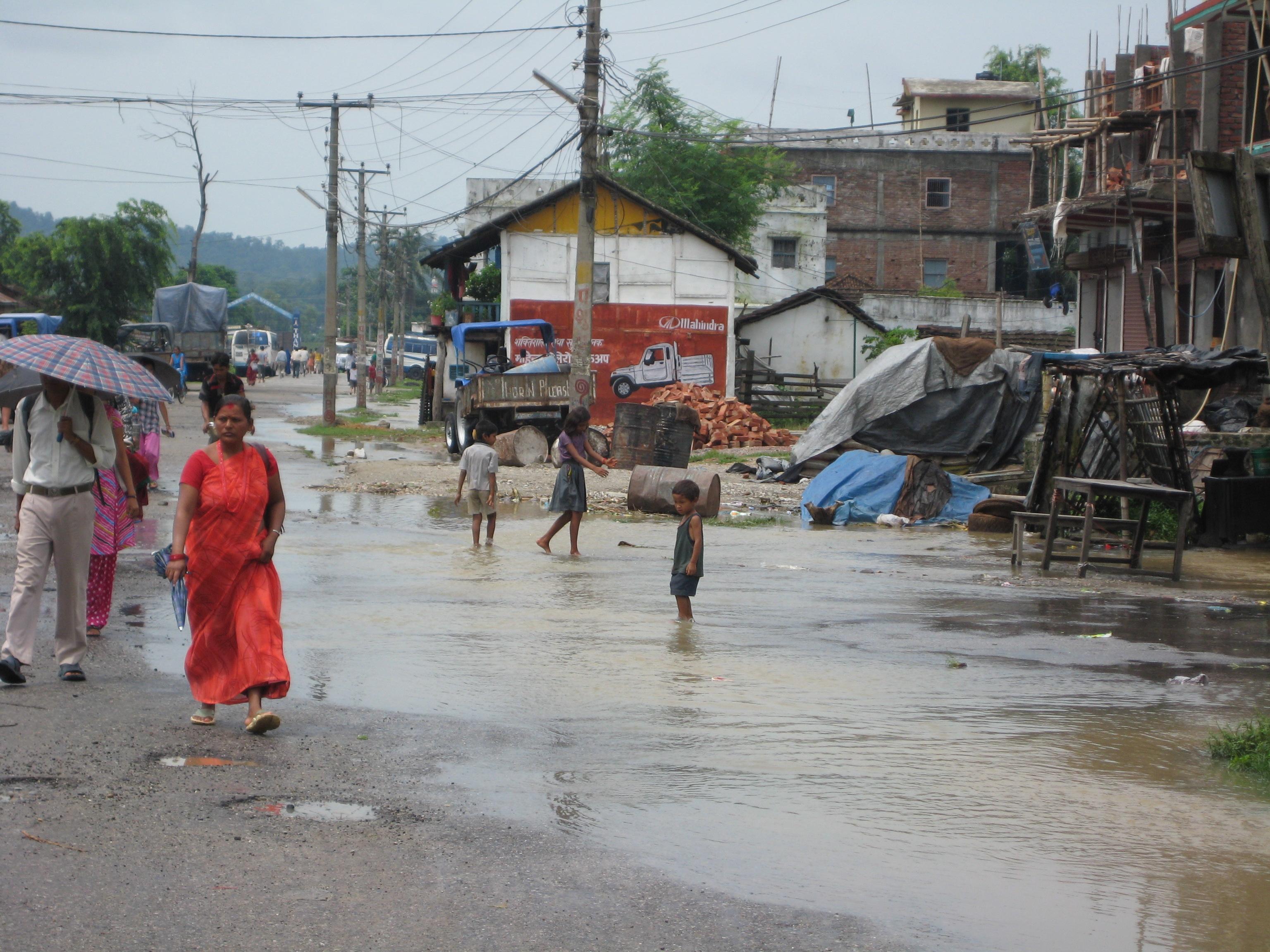 nepal flood slum
