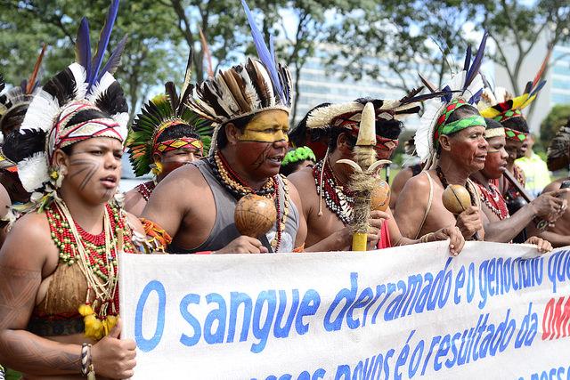 Protesto de povos indígenas em Brasília (DF) / Tiago Miotto/Cimi