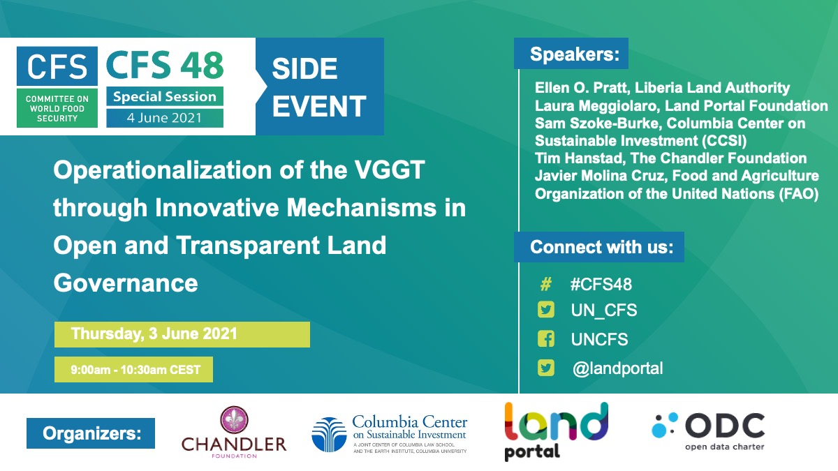 CFS 48 Side event on land transparency