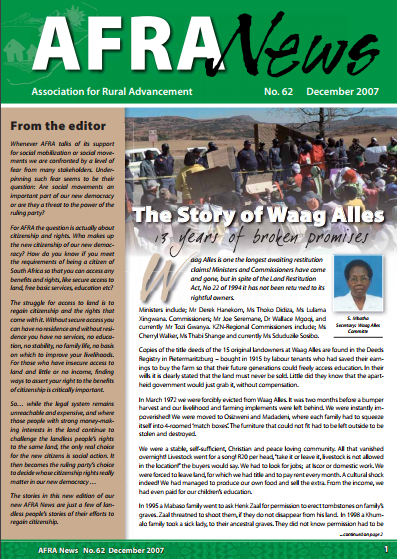 AFRA News No.62