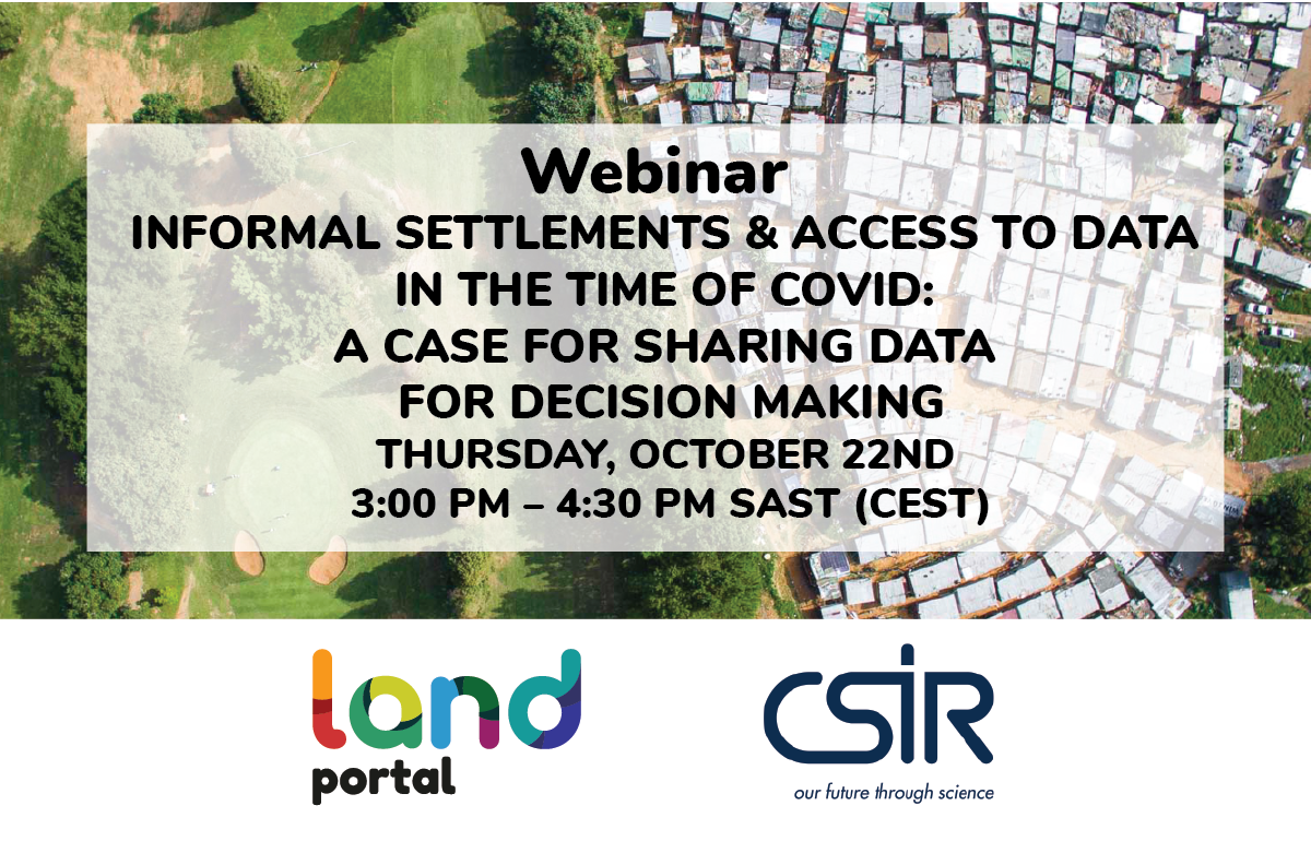 Informal settlements and access to data in the time of COVID: a case for sharing data for decision making
