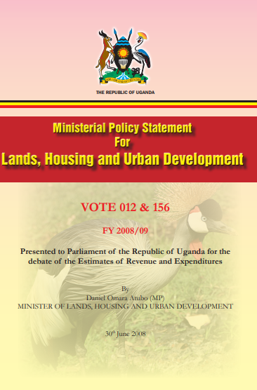 Ministerial Policy Statement For Lands, Housing and Urban Development