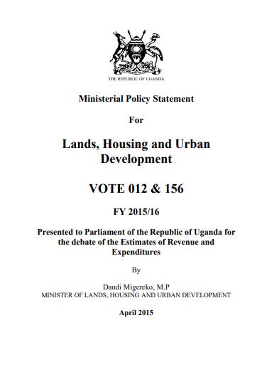 Lands, Housing and Urban Development