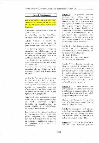 Government of Mauritania. 2007. Law No. 2007/055