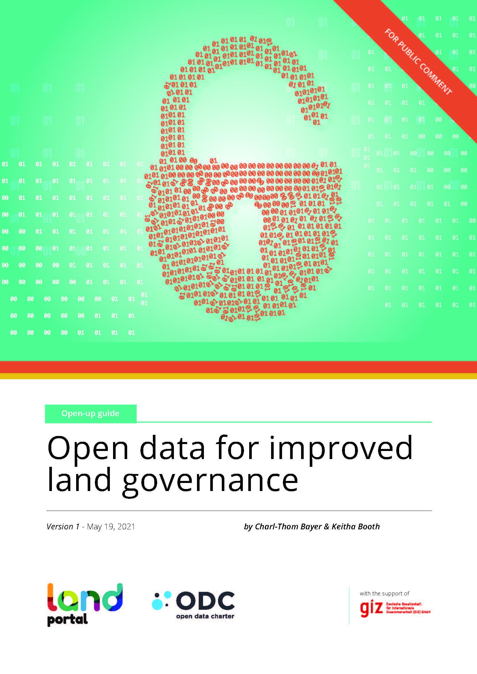 Open data for improved land governance