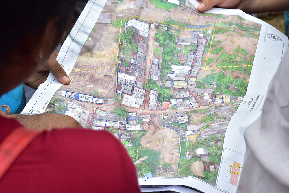 Working map of a neighborhood in the city of Puri in Odisha State, India. Credit: Cadasta Foundation