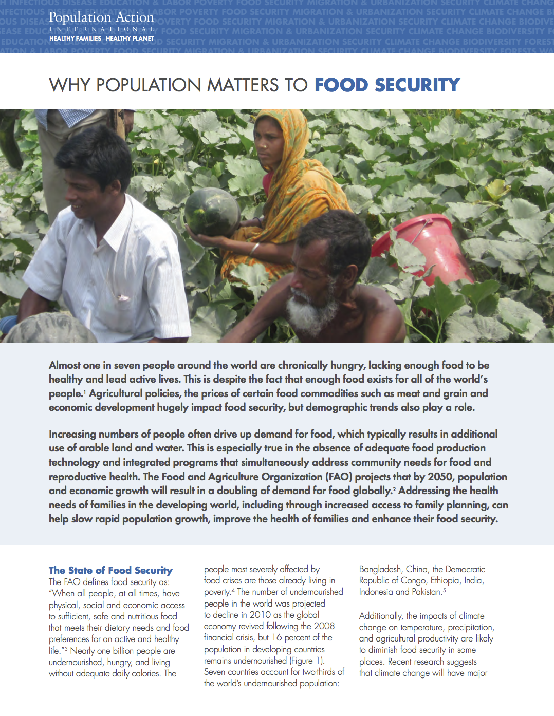 Why Population Plays a Role in Food Security cover image