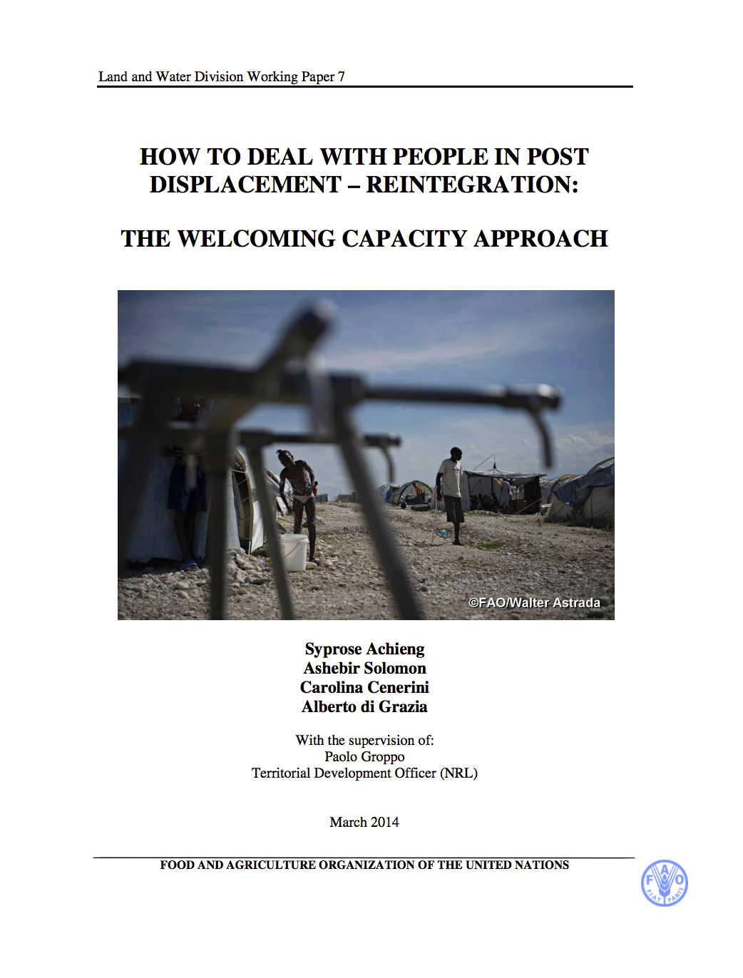 How to deal with people in post displacement - reintegration: the welcoming capacity approach cover image