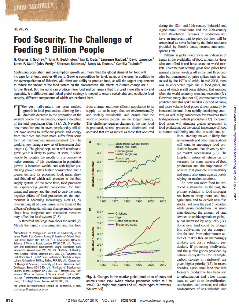 Food Security: The Challenge of Feeding 9 Billion People cover image