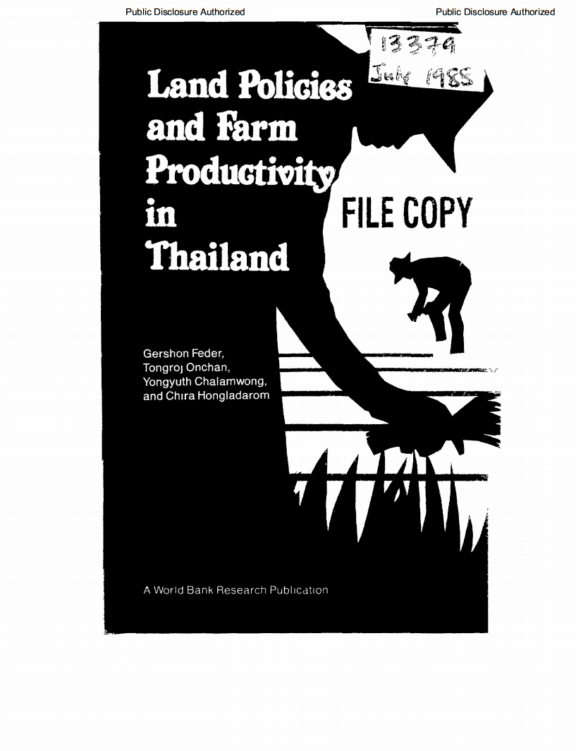 Land policies and farm productivity in Thailand cover image