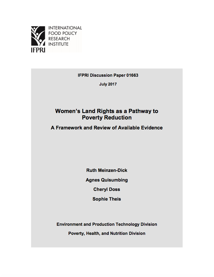 Women's Land Rights as a Pathway to Poverty Reduction  cover image