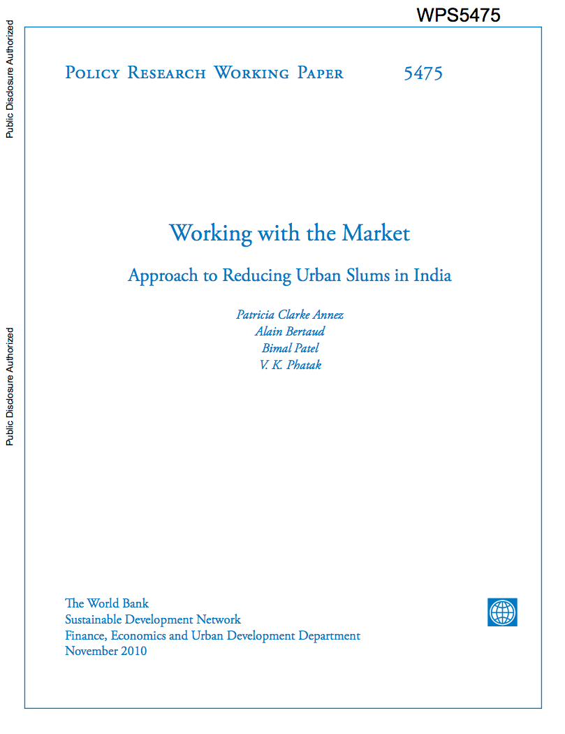 Working with the Market : Approach to Reducing Urban Slums in India cover image