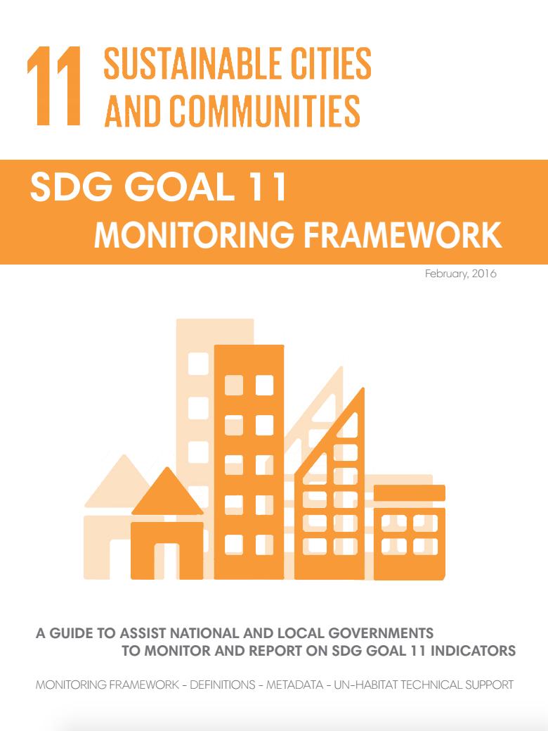 SDG Goal 11: Monitoring Framework