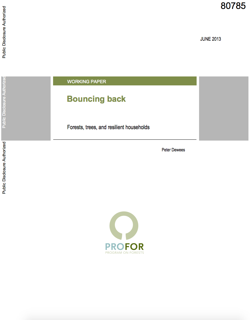 Bouncing Back : Forests, Trees, and Resilient Households cover image