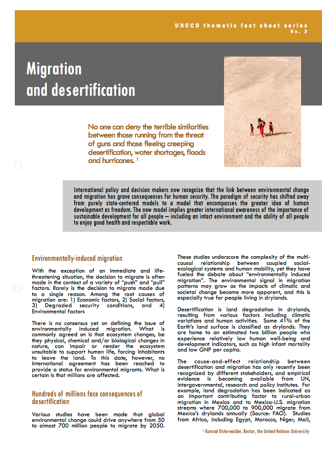 Migration and desertification cover image