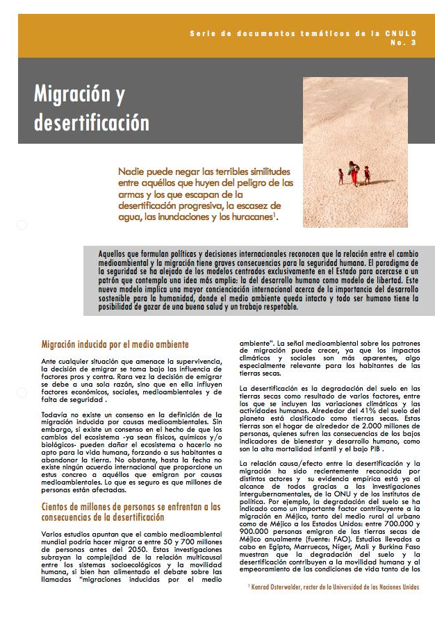 Migración y desertificación cover image