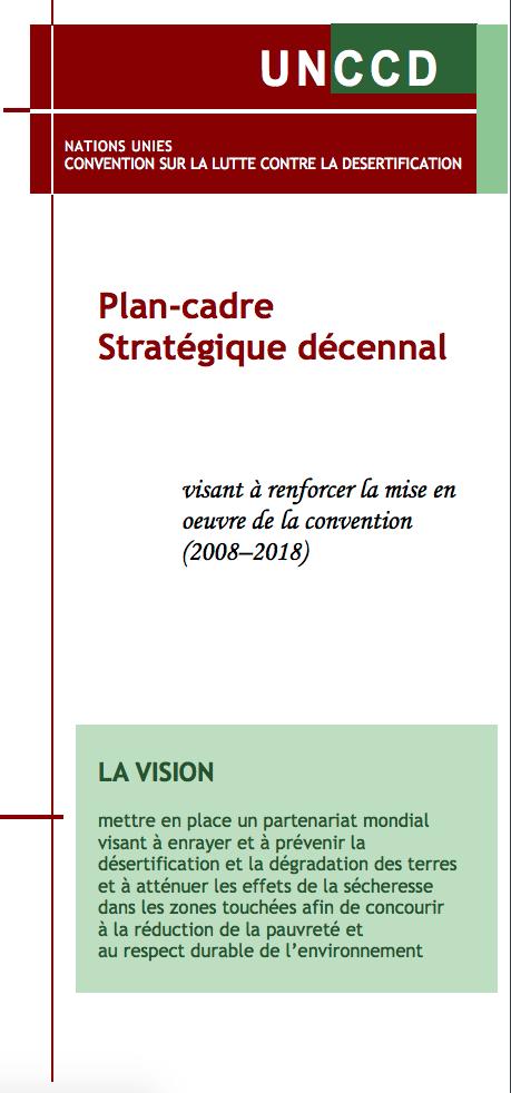 Plan-cadre Stratégique décennal visant à renforcer la mise en oeuvre de la convention (2008–2018)  cover image