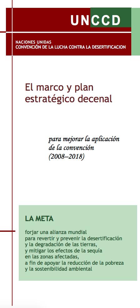 El marco y plan estratégico decenal para mejorar la aplicación de la convención (2008–2018)  cover image