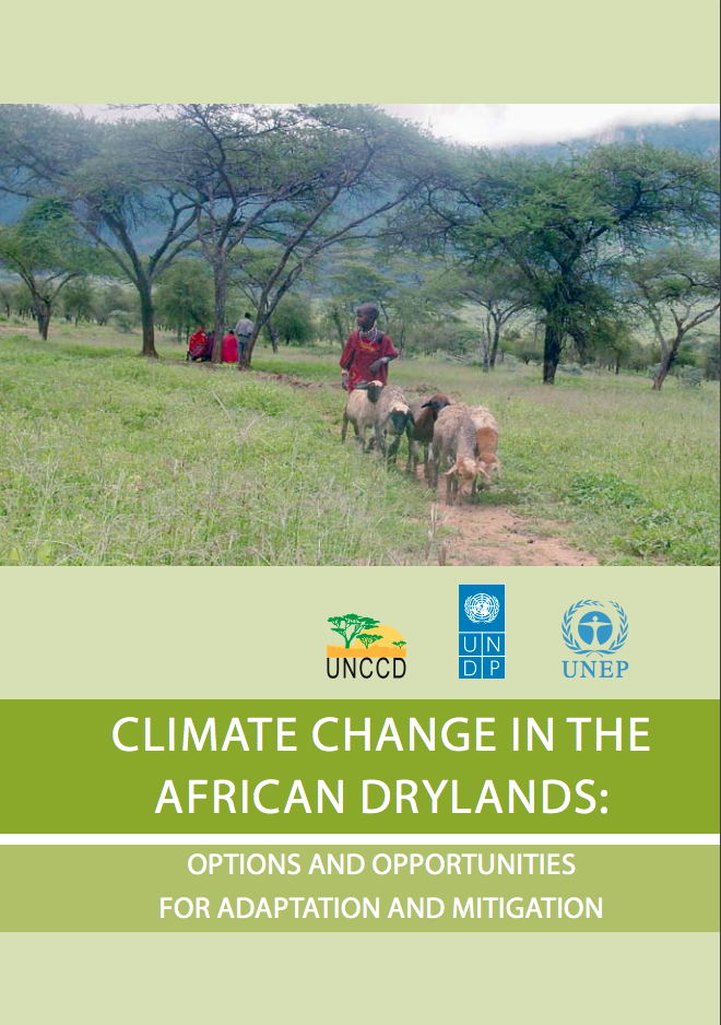 Climate change in the African drylands: Options and opportunities for adaptation and mitigation cover image