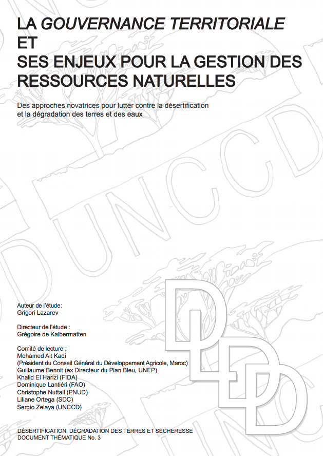 La gouvernance territoriale et ses enjeux pour la gestion des ressources naturelles cover image