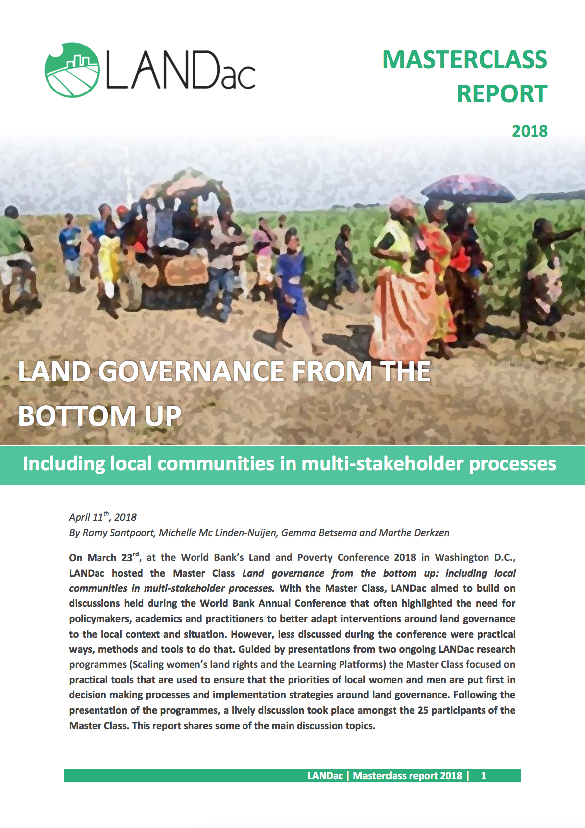 Land Governance From The Bottom Up cover image