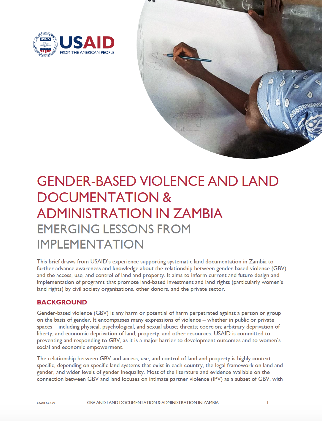 Gender-Based Violence and Land Documentation & Administration in Zambia