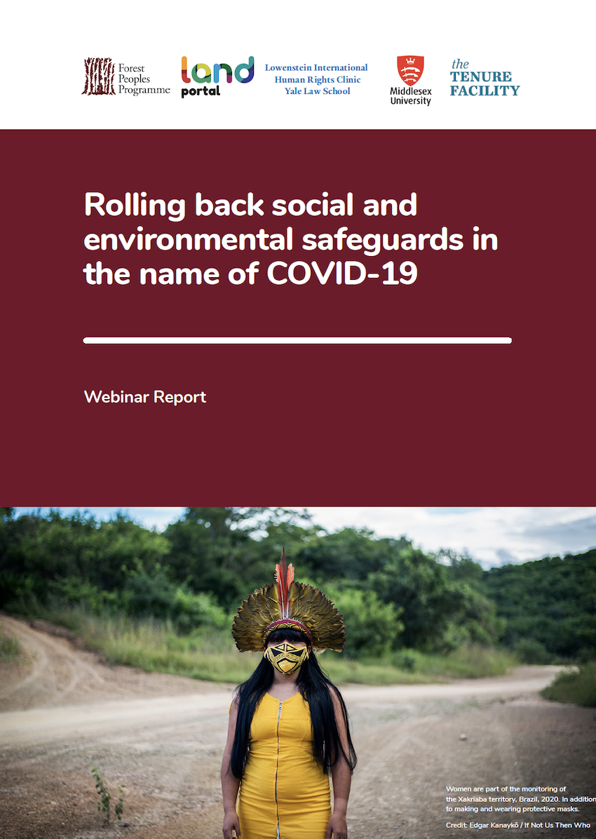 Rolling back social and environmental safeguards in the name of COVID-19