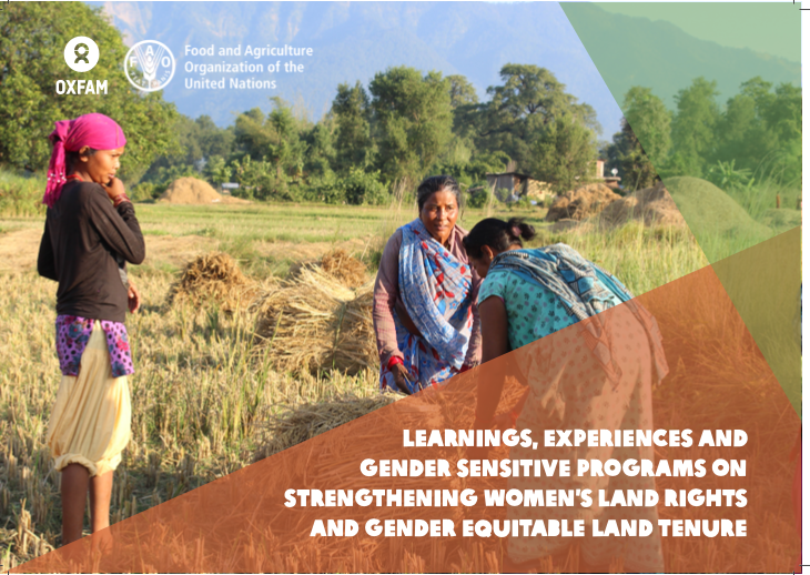 Learnings, Experiences and Gender Sensitive Programs on Strengthening Women's Land Rights and Gender