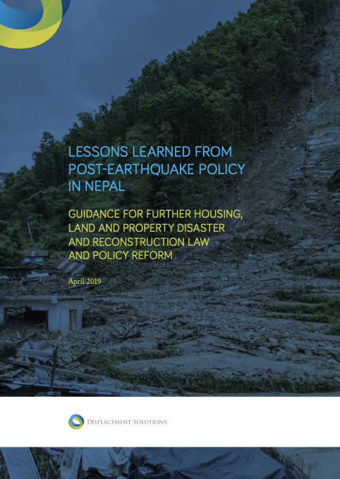 Lessons Learned from Post-Earthquake Policy in Nepal