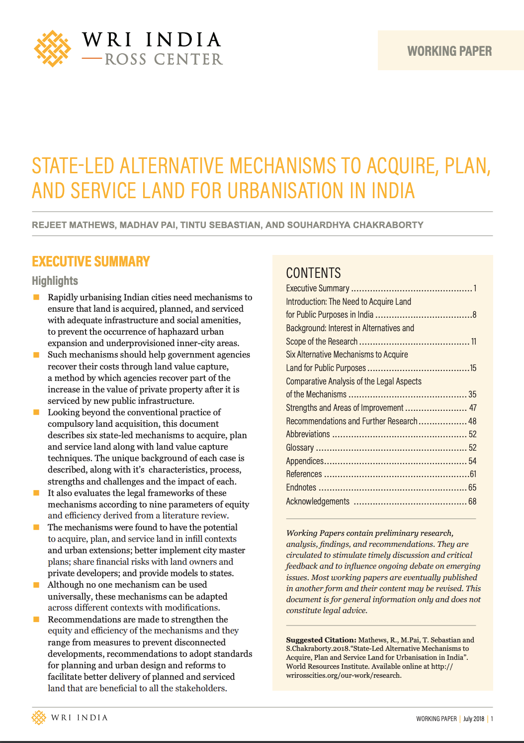 State-led Alternative Mechanisms to Acquire, Plan, and Service Land For Urbanisation in India cover image