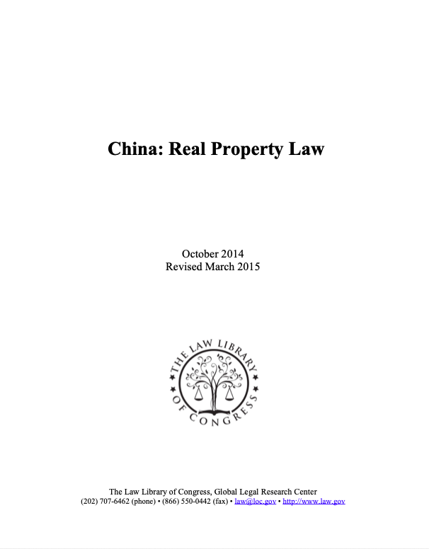 China: Real Property Law