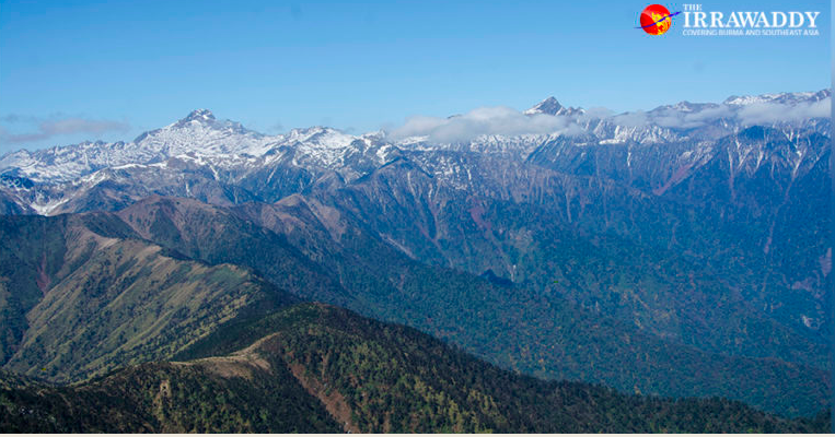 Snow-capped mountains in Putao Township, Kachin State. / The Irrawaddy