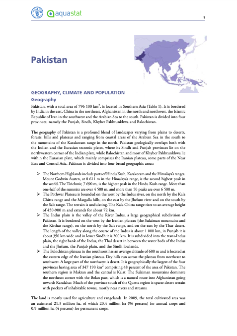 Country Profile - Pakistan
