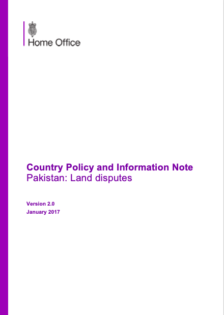 Country Policy and Information Note Pakistan: Land disputes