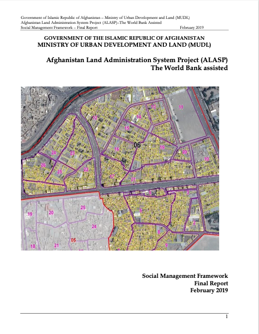 Afghanistan Land Administration System Project (ALASP)