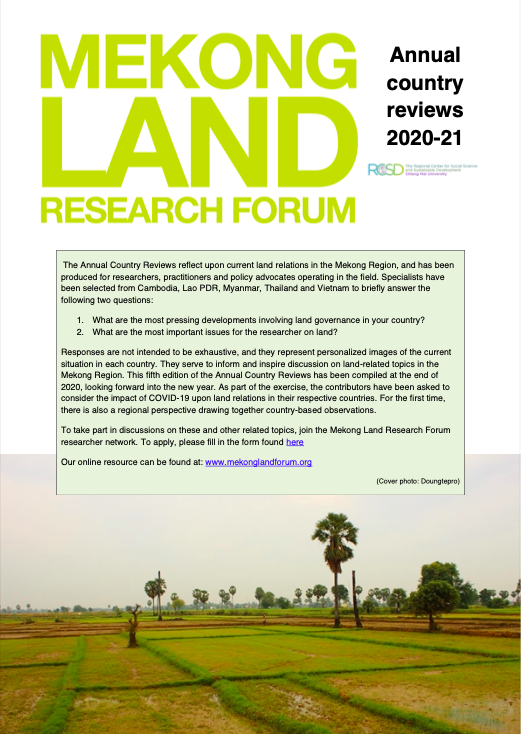 Mekong Land Research Forum: Annual country reviews 2020-21