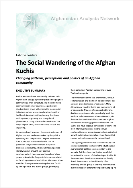 The Social Wandering of the Afghan Kuchis