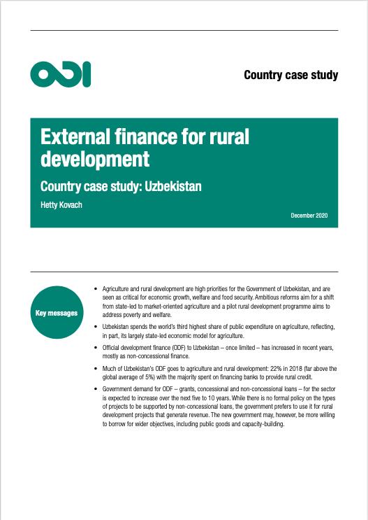 External finance for rural development