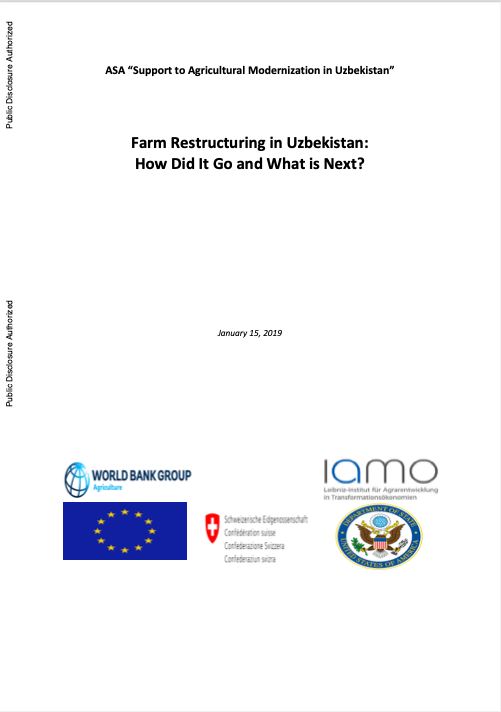 Farm Restructuring in Uzbekistan: How Did It Go and What is Next?
