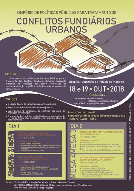 Simpósio Políticas Públicas para Tratamento de Conflitos Fundiários Urbanos