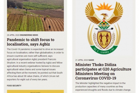 South Africa Land News Food Security 31 March - 26 April 2020