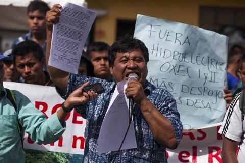 Bernardo Caal is an indigenous Q'eqchi leader from Guatemala