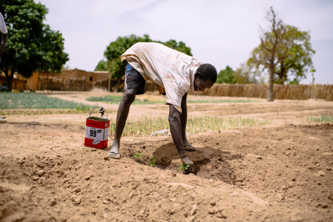 """Kabré Ali a farmer says """"I sell all my production. This allows me to support my family. I'm happy here. I hope that the rainy season will be as good as last year."""" Tintilou village, Burkina Faso."""