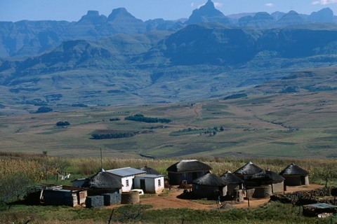 A rural homestead in KwaZulu-Natal, South Africa. Collart Hervé/Sygma via Getty Images