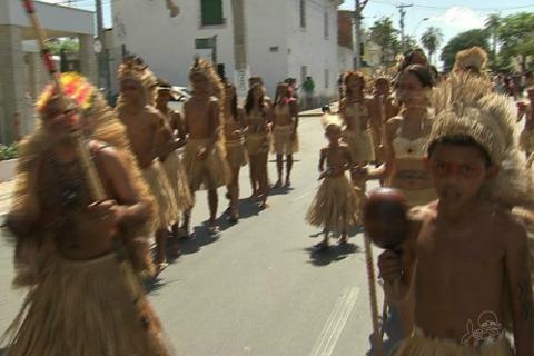 Indígenas Tapeba reivindicam terras na Grande Fortaleza (Foto: TV Verdes Mares)