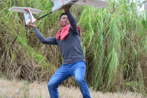 Drone Management Workshop for Community Forest Monitoring in indigenous areas in Guna de Madugandi, Panama, on April 27, 2016. Photo courtesy of the U.N. Food and Agriculture Organization