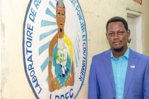 Marie-Bernard Dhedya in LRDFC's offices in Kisangani, DRC. Photo: Fiston Wasanga/CIFOR