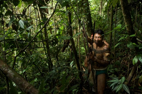 Nahua hunters in the Peruvian Amazon. Indigenous peoples safeguard 80% of the world's remaining biodiversity.