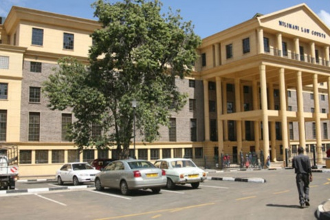 A frontal view of the newly refurbished Milimani Law Courts November 17, 2011